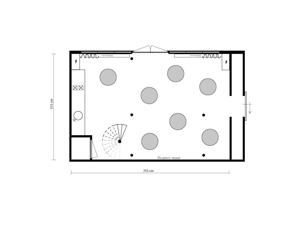 Statafel indeling Hofboog
