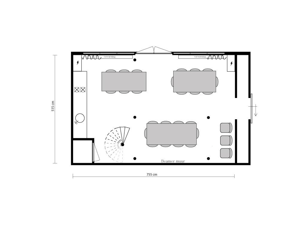 Plattegrond vergader indeling Hofboog